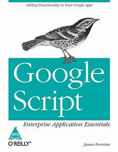 Books    Google Script  Enterprise Application Essentials