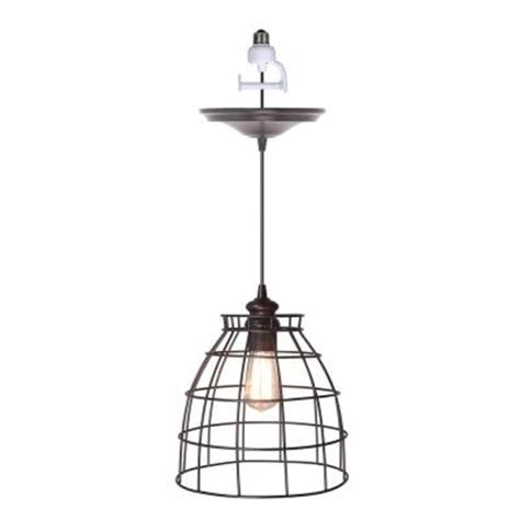 home depot can lights worth home products 1 light brushed bronze instant pendant