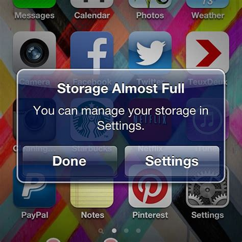 iphone storage almost storage almost and vine for iphone i