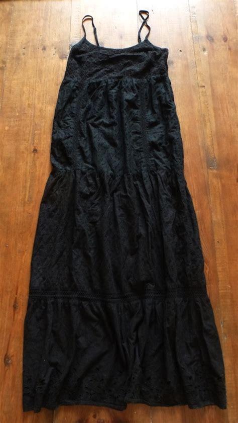 piękna czarna sukienka maxi koronka l w suknie i sukienki szafa pl