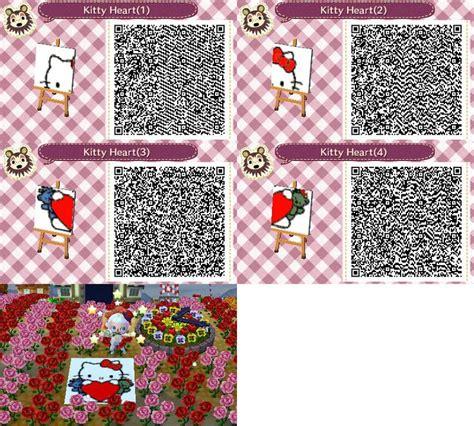 kitty heart mural animal crossingnew leaf qr codes
