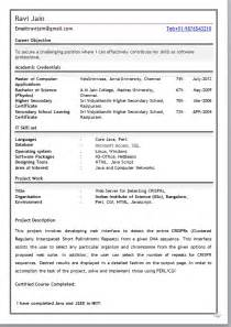 best resume format freshers free download mca fresher resume format