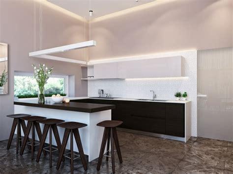 salon cuisine design meuble séparation cuisine salon en 55 idées