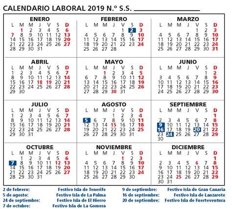 calendario laboral provincia tenerife