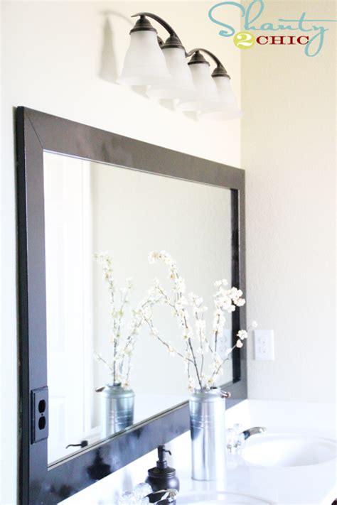 Bathroom Mirrors Cheap by Cheap Bathroom Mirror Frame Shanty 2 Chic
