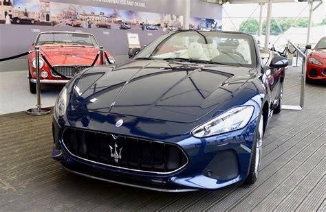 maserati car 2018 2018 maserati granturismo convertible debuts at goodwood