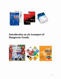 Guideline for transportation of Dangerous Goods by air. by ...