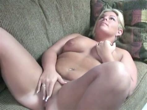 Hefty Bbw Blonde Beauty Gets Naked And Masturbates For Cash Video