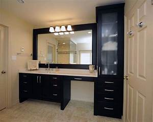 makeup vanities counter space and vanities on pinterest With kitchen cabinets lowes with flip flop wall art