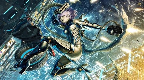 Anime Artwork Wallpaper - wallpaper 1920x1080 px anime artwork city cyborg