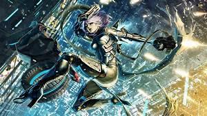 Artwork, Fantasy, Art, Anime, Cyborg, Futuristic, City