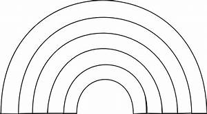 Black And White Rainbow Clip Art at Clker.com - vector ...