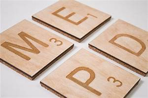 laser etched scrabble coasters look like legitimate letter With letter coasters