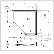 Bathtub Width Standard by Florestone Terrazzo Model 350 Neo Angle Shower Receptors