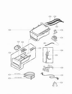 Dispenser Assembly Parts Diagram  U0026 Parts List For Model Wm2487hwm Lg