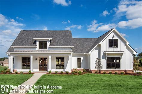 architectural plans for homes modern farmhouse plan with bonus room 51754hz