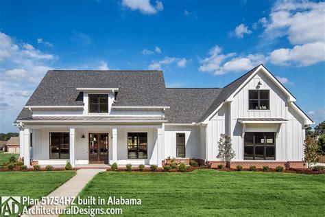 modern farmhouse plan  bonus room hz architectural designs house plans