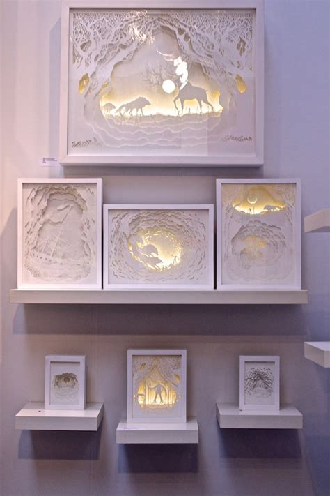 paper cut light box gorgeous papercut light boxes by hari deepti