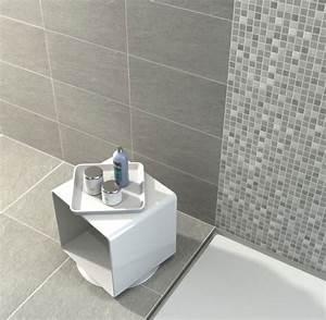 carrelage salle de bain nos modeles preferes cote maison With salle de bain gris perle