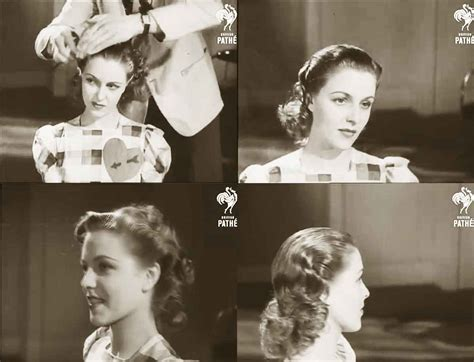 1940s Wartime Hairstyles by 1940s Hairstyle American Wartime Hairdos 1944 Daze