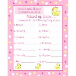 Abc Baby Shower Game