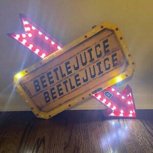New Beetlejuice LED Light Up Marquee Sign SPIRIT HALLOWEEN ...