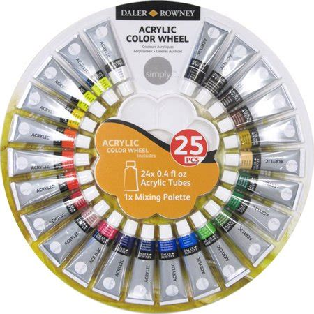 simply acrylic 25 piece color wheel walmart com