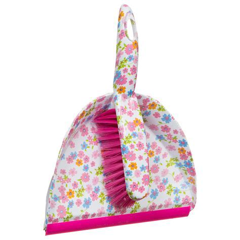 Printed Dustpan & Brush   Floral   Cleaning Products