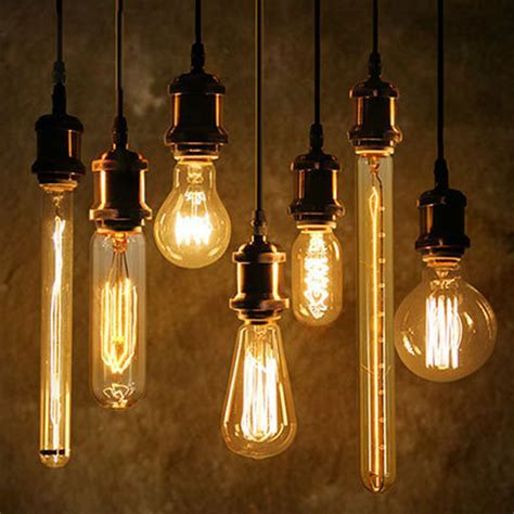 Lamp: Vintage Style Globe Filament Light Shines With