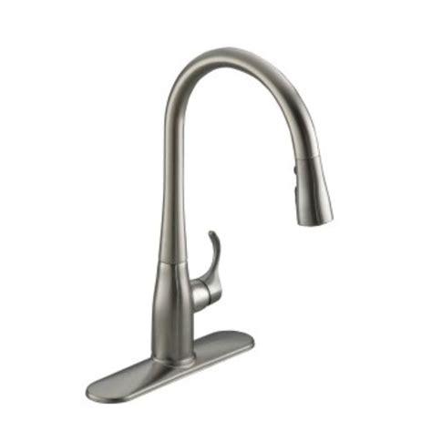kohler kitchen faucets kohler bellera single handle pull sprayer kitchen