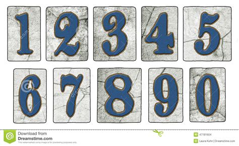 vintage new orleans tiles numbers stock photo