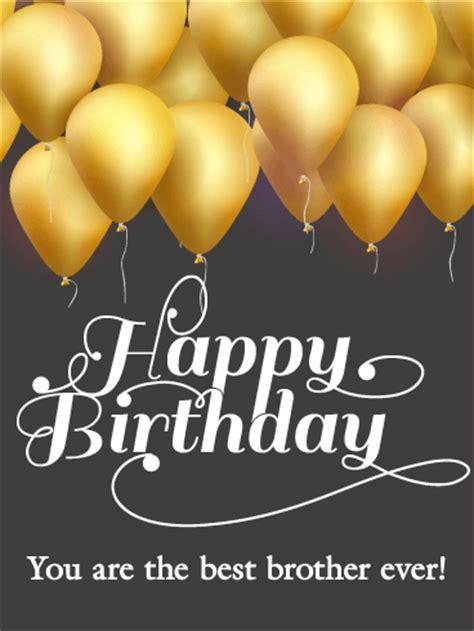 golden birthday balloon card  brother birthday