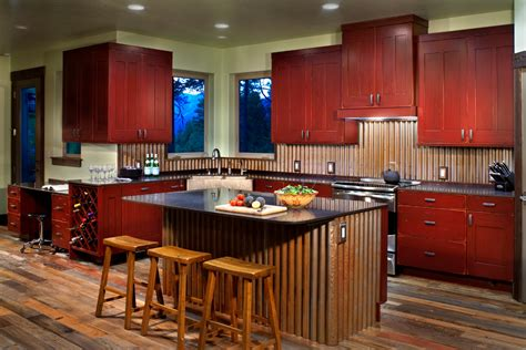 rustic kitchen canisters corrugated metal backsplash kitchen modern with reclaimed