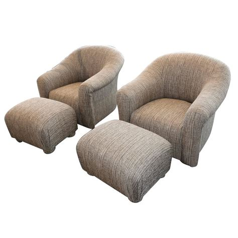 Comfortable Chairs With Ottomans by Pair Of Comfortable Swivel A Rudin Chairs And Matching