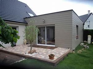 creation dune extension a ossature bois renovea With faire un agrandissement de maison