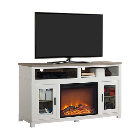 white fireplace tv stand electric fireplace tv stand in white 1774296com