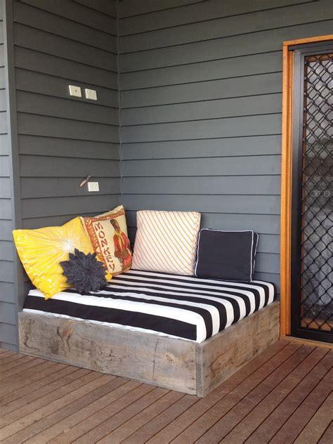 outdoor bed apprentice extrovert diy outdoor day bed reveal