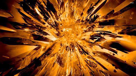 golden explosion wallpaper digital art wallpapers