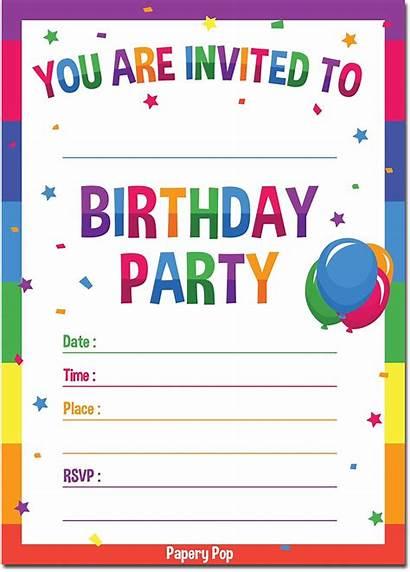 Invitation Birthday Templates Printable Cards