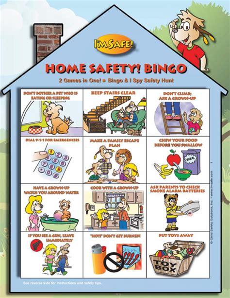 home safety bingo game english im safe