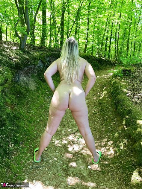 hot sweet susi with saggy tits naked in the woods spreading pussy on the trail