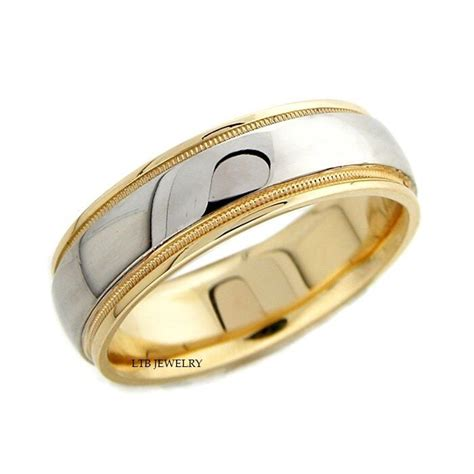 950 platinum 18k gold mens wedding band ring 6mm ebay