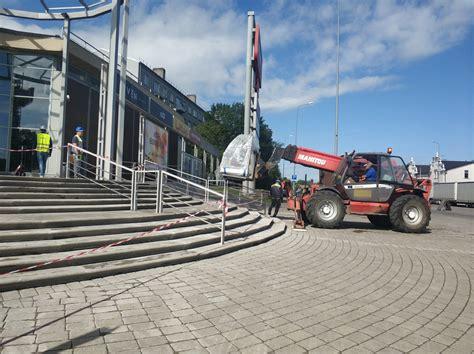 В понедельник закрыто движение на участке площади К. Залес | liepajniekiem.lv