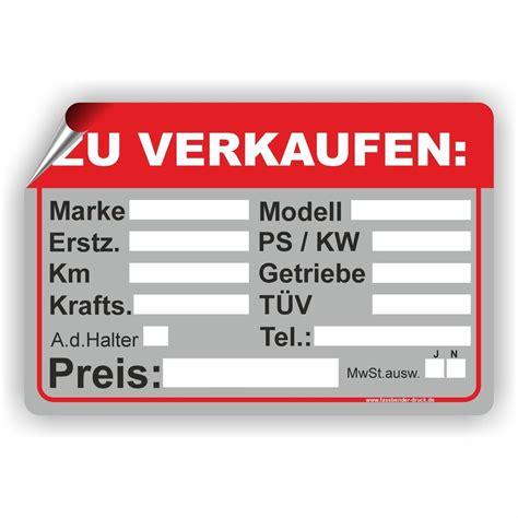 mobile de auto verkaufen auto zu verkaufen pkw kfz ps kw marke modell t 220 v aufkleber
