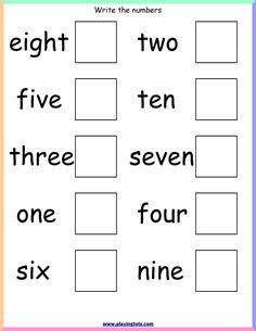 number words images preschool kindergarten math
