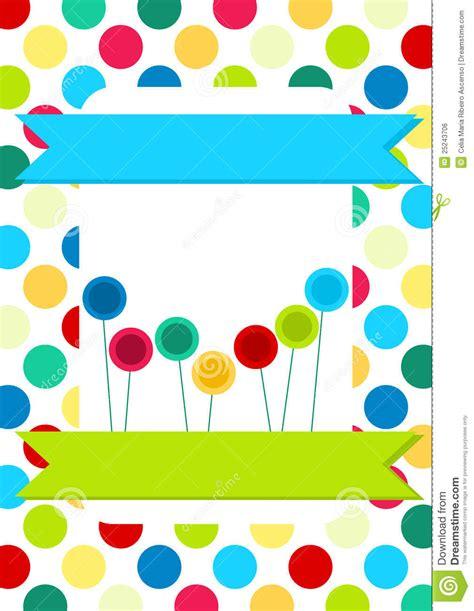 circles  lollipops invitation card royalty  stock