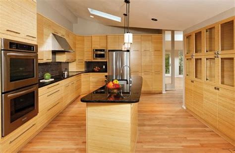 wood floors in kitchens cabinets to coordinate with bamboo flooring 1580