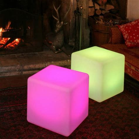 colour changing outdoor light cube  jusi colour