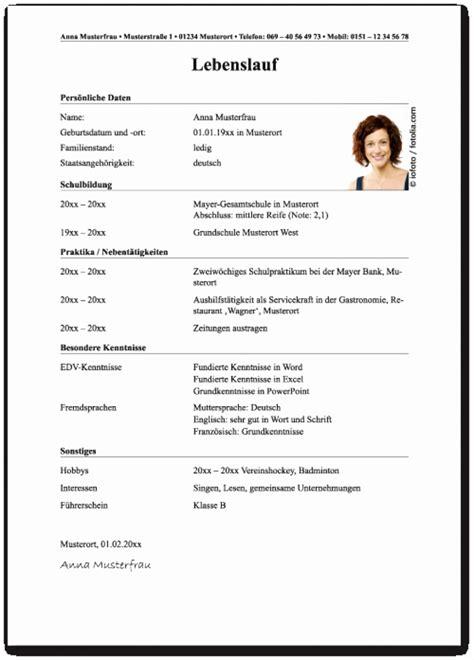 Vordruck Tabellarischer Lebenslauf by Lebenslauf Vorlage Polizei Sch 246 N 15 Lebenslauf In
