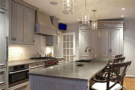 gray washed kitchen cabinets transitional kitchen